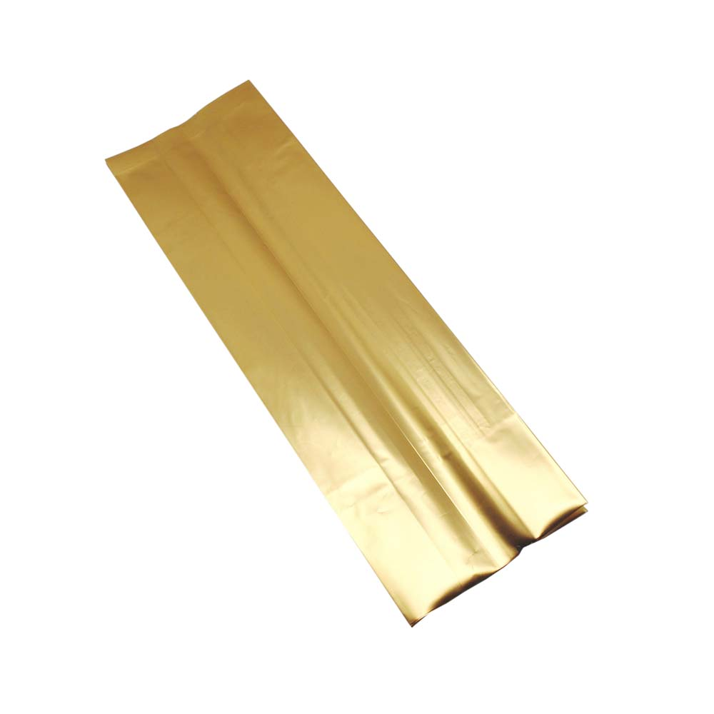 En gros or feuille d'aluminium paquet sac d'orgue ouvert Top côté gousset sac pour café thé Snack haricots stockage des aliments Mylar sacs