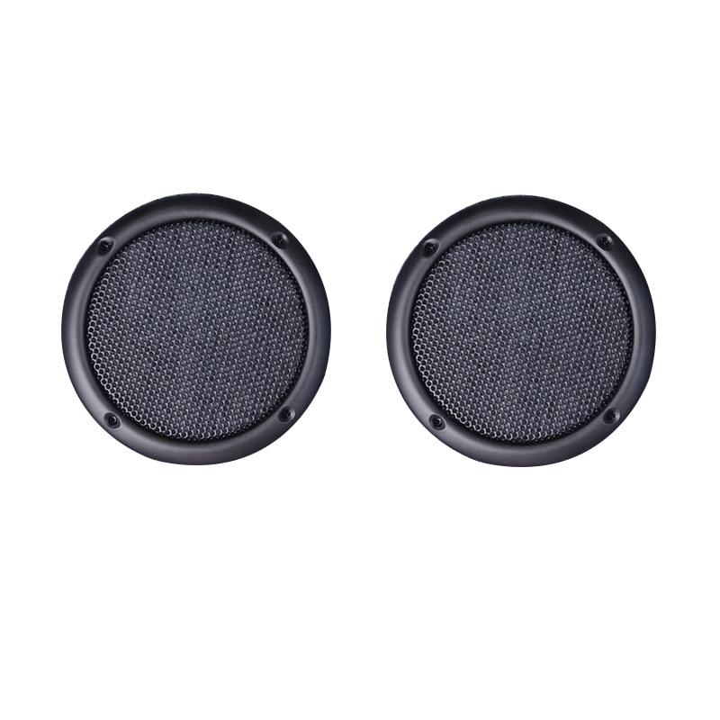 TONLEN 2PCS 3 palcový reproduktorový rošt Mesh Black Speaker Ochranný gril Iron Mesh DIY Dekorativní