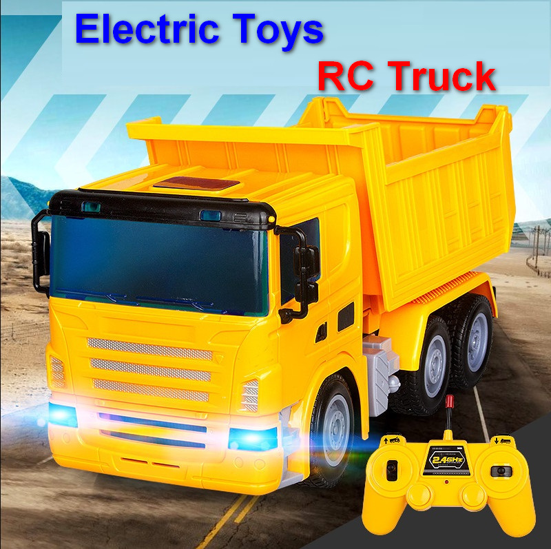 RC truck model electric wireless remote control engineering toys for children kids boys. kingtoy detachable kids electric big rc truck detachable trailer remote control wireless truck toy