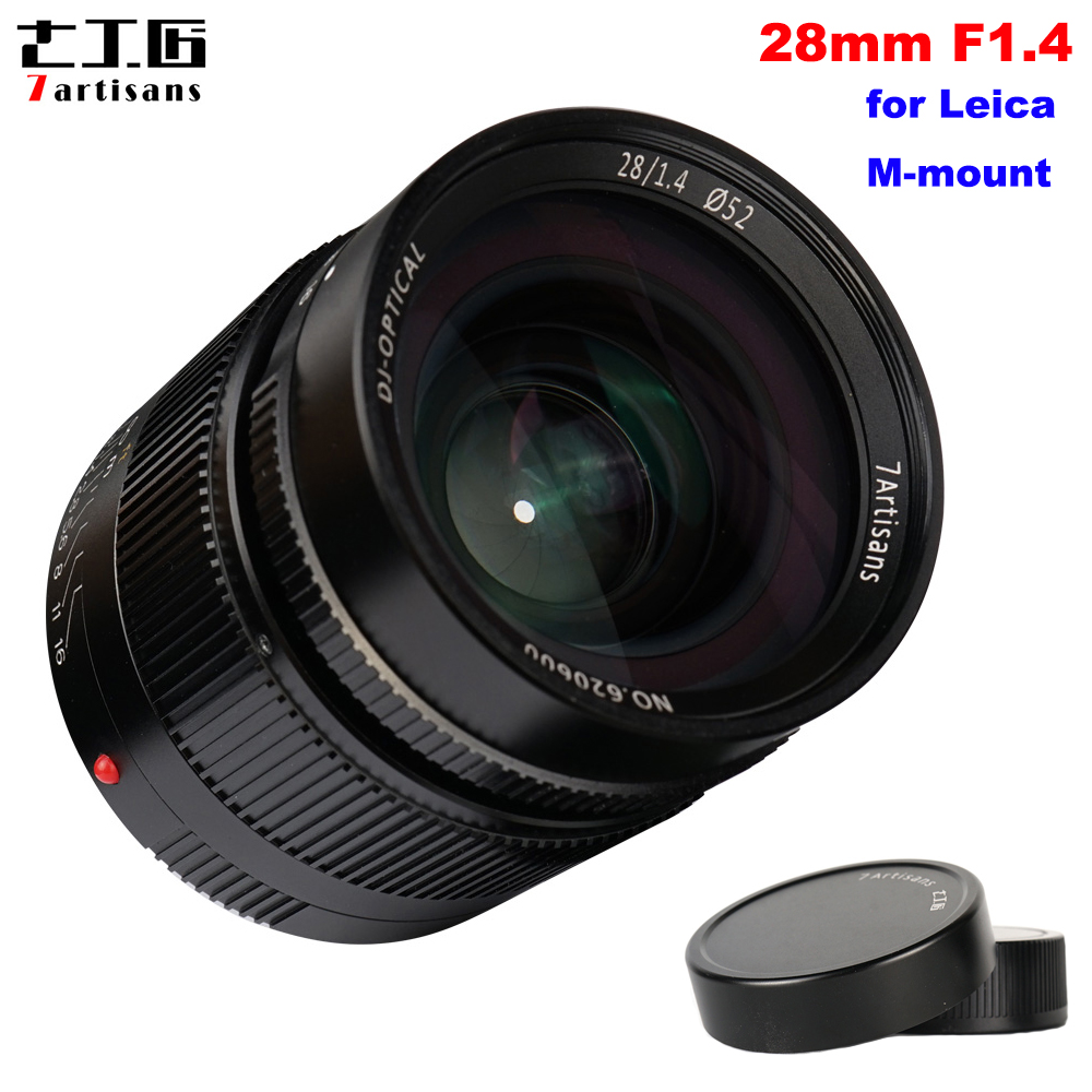 7artisans 28mm F1 4 Large Aperture Paraxial Full Frame Manual Fixed Lens for Leica M mount