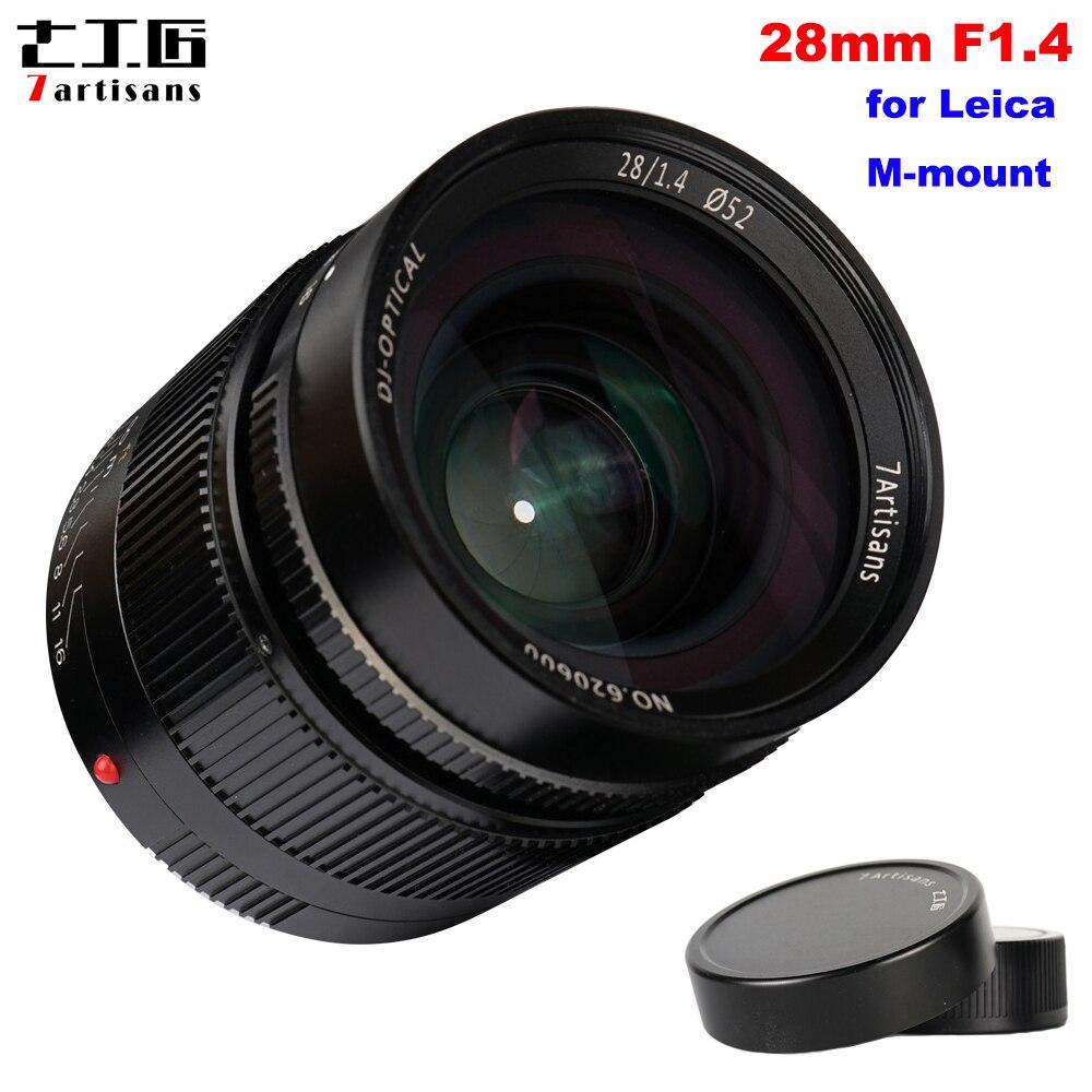 7 artesãos 28mm F1.4 Paraxial Full Frame Grande Abertura Manual Fixo Lens para Leica M-montar Câmeras M3 m6 M7 M8 M9 M9P M10 M240
