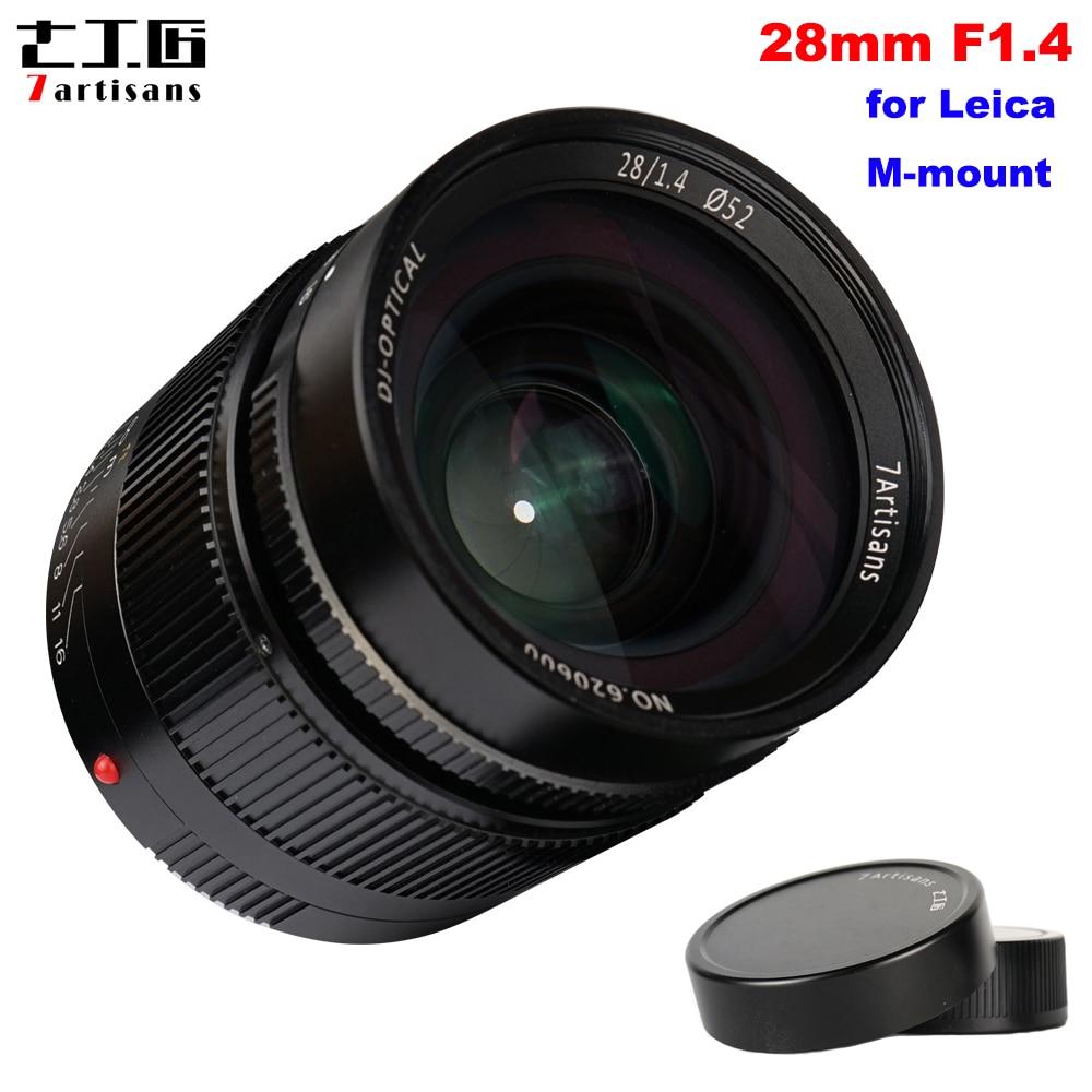 7 artesanos 28mm F1.4 gran apertura Paraxial completa Manual lente fija Leica M Cámaras con montura M3 m6 M7 M8 M9 M9P M10 M240