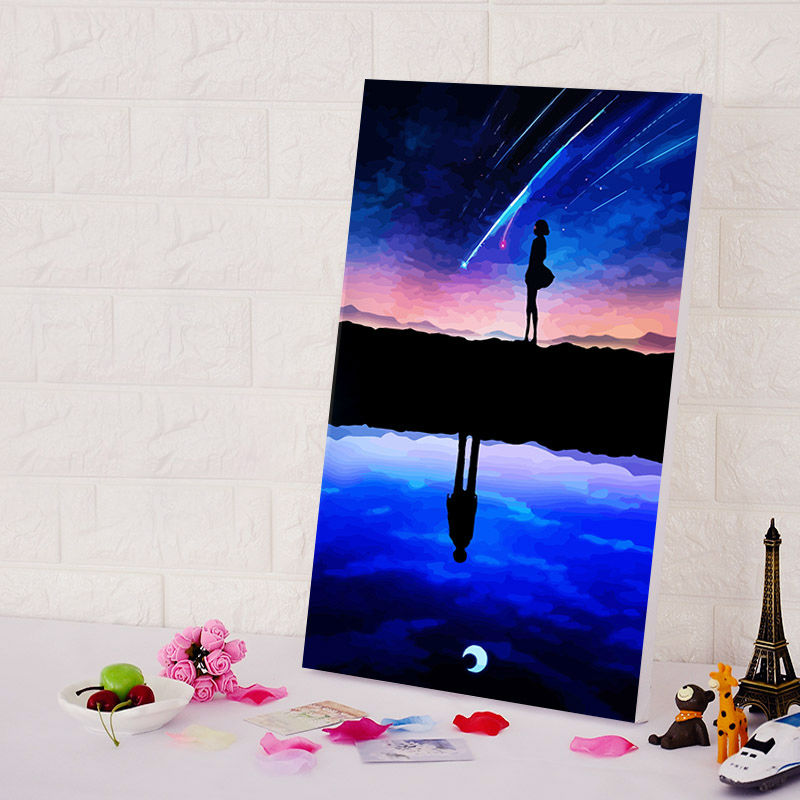 Diy oil painting your name diy digital painting japan for Digitally paint your house