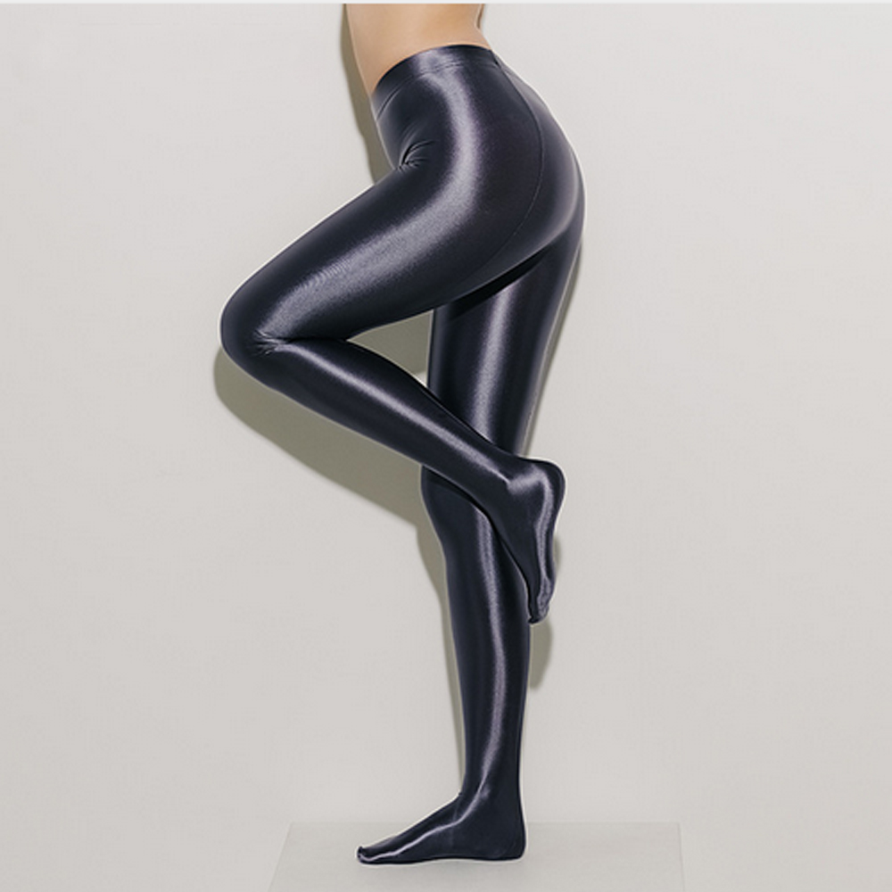 NESTwomen tights pantyhose Sexy tight-fitting solid color satin pants pantyhose shiny sexy tights for women Oil pantyhose LEOHEX image