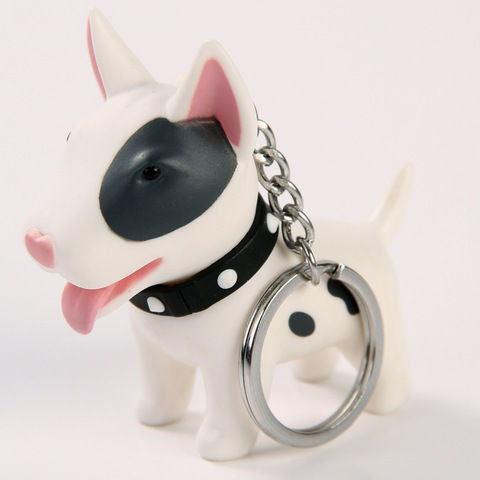 Купить 2018 брелок с аниме фигуркой собаки ручная роспись собака бультерьер