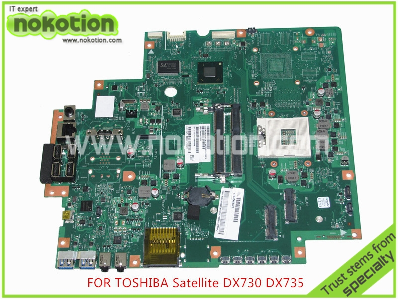 NOKOTION Laptop Motherboard For toshiba satellite DX730 DX735 Intel HM65 HD3000 Graphics DDR3 Mainboard SPS T000025060 for toshiba satellite l745 l740 intel laptop motherboard a000093450 date5mb16a0 hm65 tested
