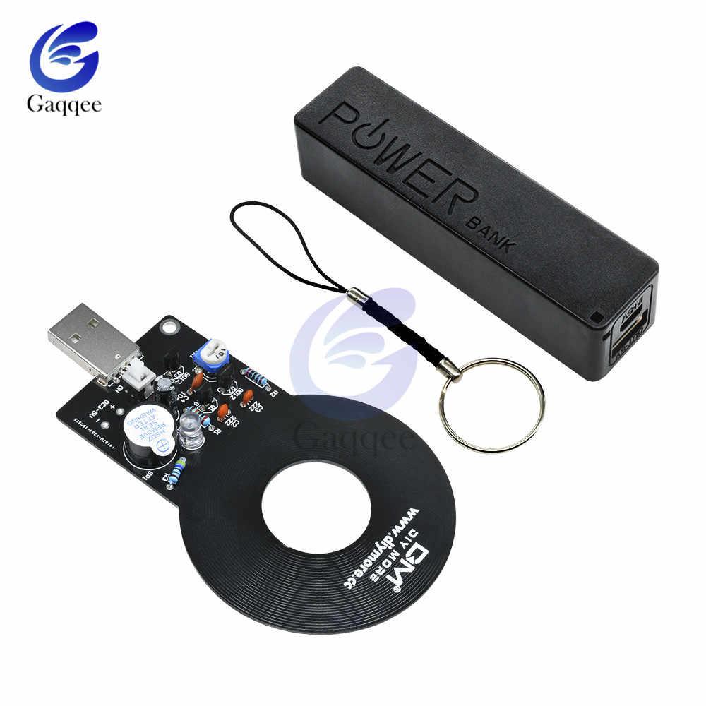 كاشف المعادن + 18650 USB صندوق صندوق الطاقة لتقوم بها بنفسك أطقم تيار مستمر 3 فولت-5 فولت المعادن تستر الاستشعار مجلس مع 18650 شاحن بطارية وحدة