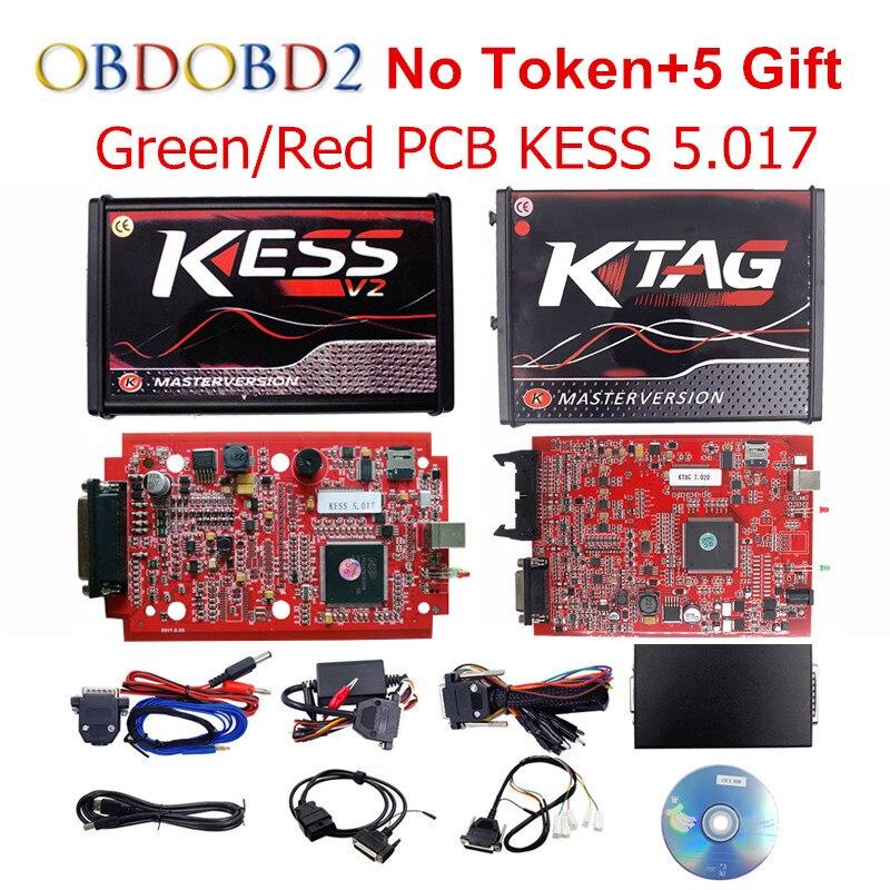 Master Online UE Rosso V5.017 KESS KESS V2 5.017 No Token V7.020 Kit OBD2 Gestione Sintonia KTAG K-TAG 7.020 V2.23 ECU Programmatore