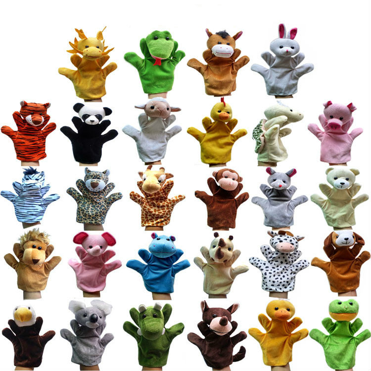 27 Kind Big Hand Puppet Animal Plush Doll For Kids Children Adult Finger Puppet Glove Mouse Toys Panda Dragon Pig Dog Animal