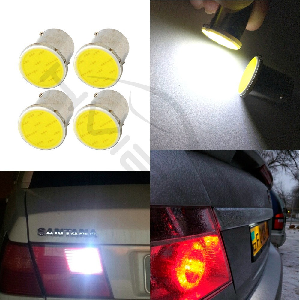 Hviero White Cob P21 5w 12Led 1156 BA15S 1157 BAY15D DC 12v Rv Trailer Truck Led Parking BulbS Auto Width Lamp License Plate Light