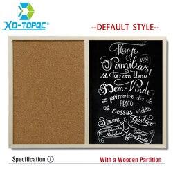 Free shipping 2017 natural bulletin combination cork board and chalk blackboard kitchen office supplier 30 40cm.jpg 250x250
