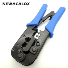 NEWACALOX Modular Connector Netwotk Plug Ratcheting Repair Ratchet Adjustable Cutter Stripping Stripper Crimping Tools Wire