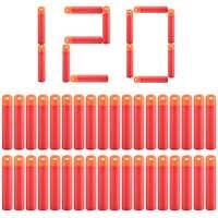 Balas blandas para Nerf Mega Paintball, balas de espuma de cabeza suave hueca, armas, color rojo, 120/240 Uds.