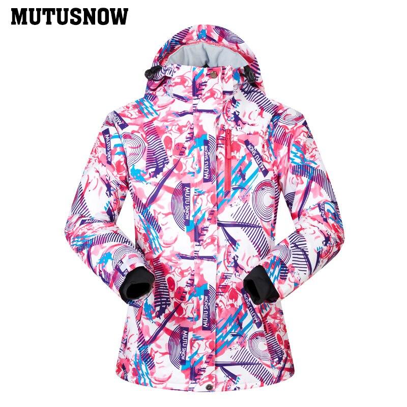 2761fc4e68 Women Ski Jacket Brand 2018 New High Quality Windproof Waterproof Warm Snow  Coat Female Winter Skiing