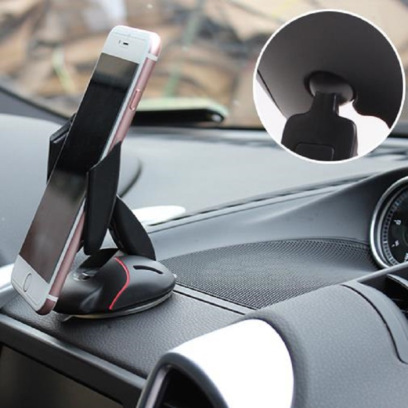Multi - function auto phone stand Car navigation frame sucker folding mouse style Suitable for equipment width 56-95mm