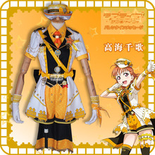 2019 lovelive sunshine Aqours Train awakening Takami Chika Dress Lovely Halloween Women Dress lovelive love live sunshine aqours anime game takami chika kurosawa dia tsushima kawaii resin capsule toy pendant
