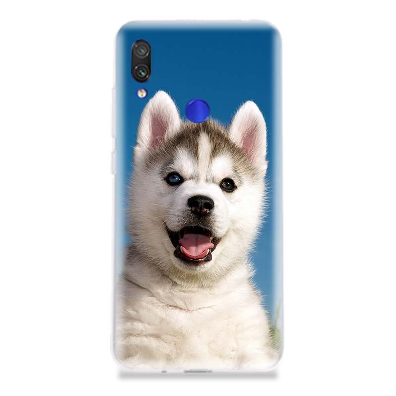 Cute Husky Smile Popular Soft Silicon TPU Case For Xiaomi Redmi Note 4 5 6 7 7Pro For Redme S2 GO Customized Best seller Cover in Half wrapped Cases from Cellphones Telecommunications
