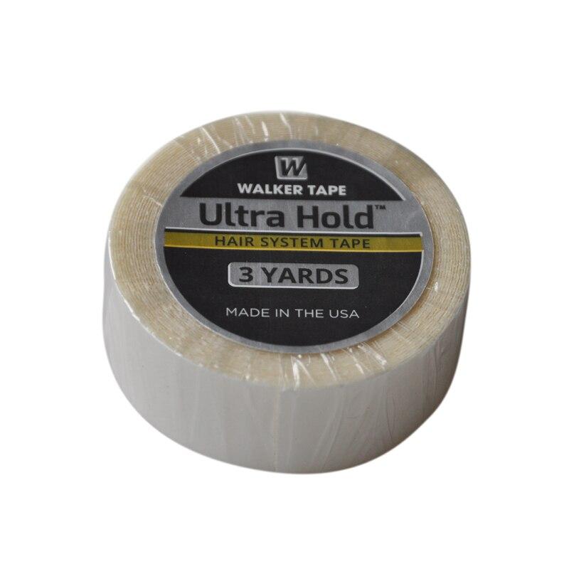 1,9 cm(3/4 pulgadas) * 3 yardas de cinta adhesiva de doble cara de pelo blanco Ultra Hold para extensiones de cabello de cinta/tupé/pelucas de encaje 1/3/5m, cinta adhesiva reutilizable de doble cara, Nano sin rastro, pegatina extraíble, adhesivo lavable, discos de lazo, dispositivo de pegamento