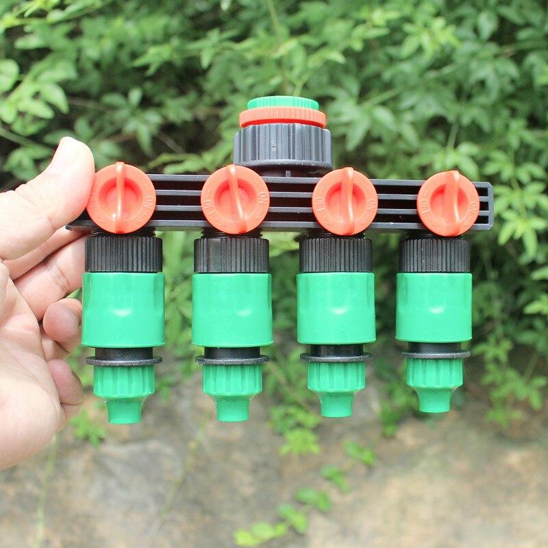4 Way Garten Tippen Splitter Outdoor Wasserhahn Für Gartenschlauch Lock  Anschluss Splitter Adapter Garten Bewässerung Armaturen D106