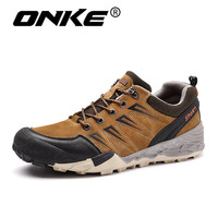 New Trend Round Head Hiking Shoes For Men Mountain Climbing Sneakers Top Quality Outsole Sports Waterproof