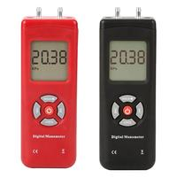 Handheld Digital Dual port Manometer Professional pressure gauge Differential Air Pressure Tester Pressure Measuring Instruments