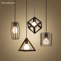 Feimefeiyou Nordic Retro Iron Creative Chandeliers Loft Simple Personality Single Head Restaurant Lights Bar Art Pendent