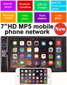 2 din Car Multimedia Video Player 7'' HD Bluetooth Stereo Radio Audio FM MP3 MP4 MP5 USB AUX Auto Electronics autoradio NO DVD