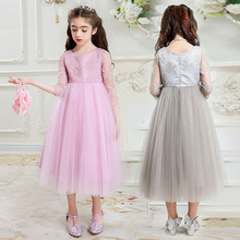 Brand girl ball gown long dresses for teenagers size 5 6 7 8 9 10 11 12 13 14 15 16 years child wedding party priness tutu dress