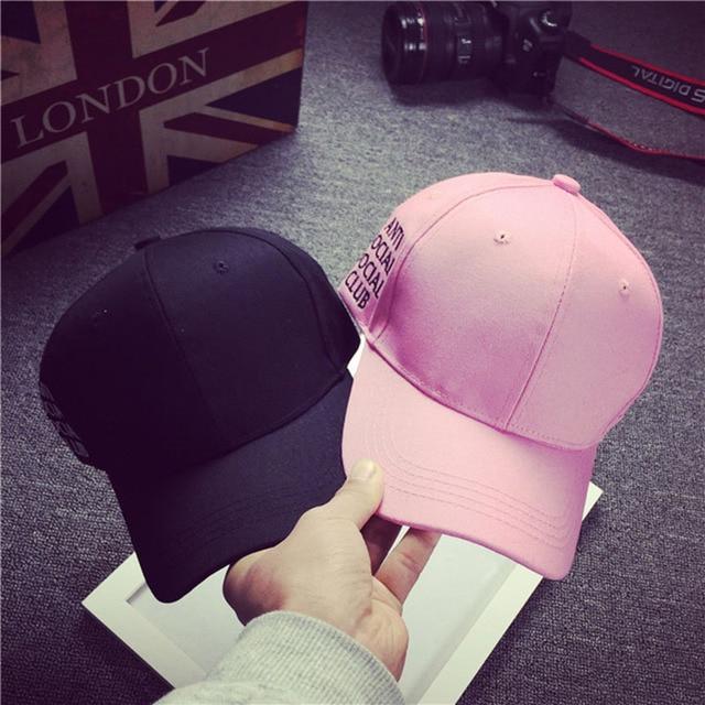 2016 New Fashion ANTI SOCIAL SOCIAL CLUB Snapback Hat Sport Baseball Cap Men Women Hip Hop Gorras Outdoor Spots Party Dance Hats