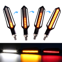 Flowing motorcycle turn signal lights LED Amber Indcator Lamp Blinker Flasher FOR suzuki boulevard m109rclignotant moto led 4x clear turn signal lenses for 2006 2012 suzuki boulevard m109r motorcycle signal lamp cover lampshade scooter