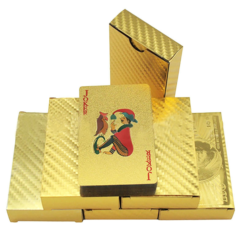 Aliexpress Buy New Luxury Waterproof 24k Gold Foil Poker 54 Playing Cards For Casino Table