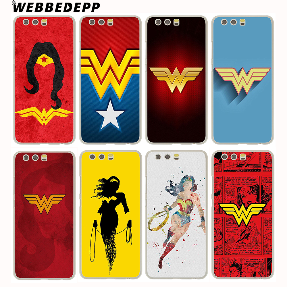 Webbedepp Wonder Woman DC Superhero Жесткий Чехол для Huawei P20 Pro Smart P10 P9 Lite 2016/2017 P8 Lite 2015/2017