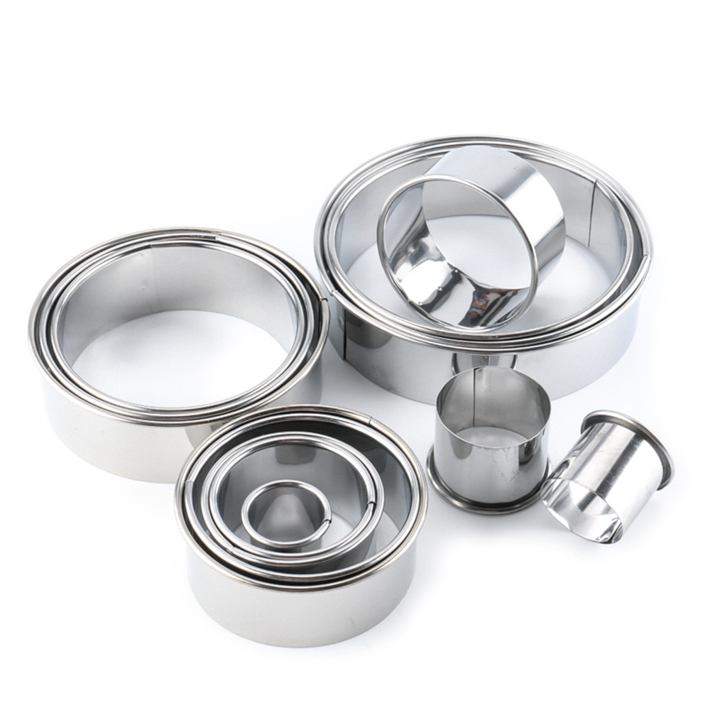New 14Pcs Stainless Steel Round Dumplings Wrappers Molds Set Cutter Maker Tools Bakeware Cookie Tool wholesale