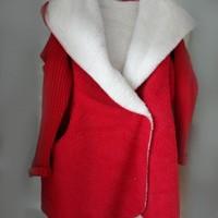 Women Fleece Cardigans Coat 2017 Autumn Winter Warm Thicken Women Wool Blends Long Loose Casual Hooded