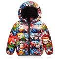 Boys Parkas Winter Down Coat Cartoon Monkey Winter Jacket for Girls Thickening Children's Clothing Kids Down Vest Jacket Parkas