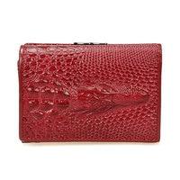 Brand 3 Fold Genuine Leather Women Wallets Coin Pocket Female Clutch Travel Wallet Portefeuille Femme Cuir