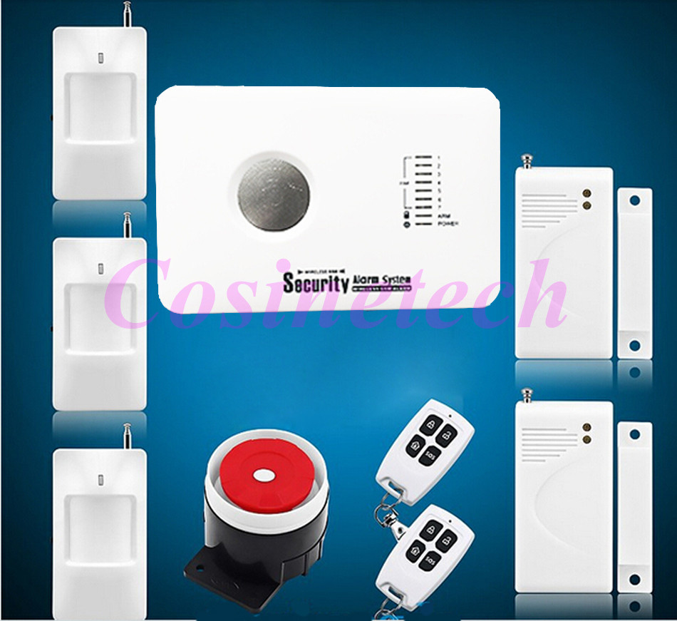 315/433MH GSM alarm system APP control alarm system with 3 wired and 70 wireless defense zones Burglar Alarm System