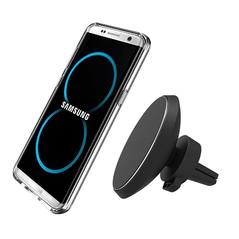 360 Degree Rotation QI Standard Phone Car Magnetic Wireless Charger Air Vent Holder For Samsung Galaxy S8 S8 Plus S7 Edge S7 (8)