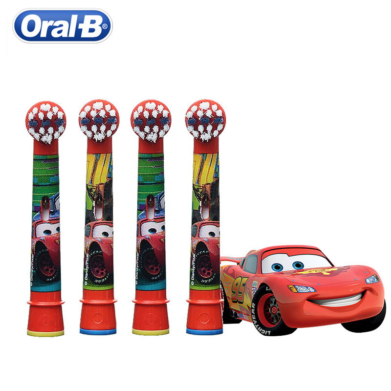 Oral B Kids Electric Toothbrush Car D10 Replaceable Brush Heads EB10 Rechargeable Music Timer Dupont Bristles