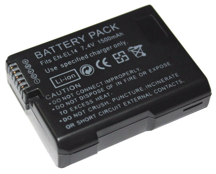Cncool EN-EL14 EN-EL14A 1500mAh 7.4V Digital Rechargeable Camera Battery for Nikon D5300 D5200 D5100 D3200 D3100 D3300 P7000