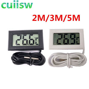 1PCS Mini LCD Digital Thermometer indoor outdoor 2M/3M/5M Meters with remote sensor for car