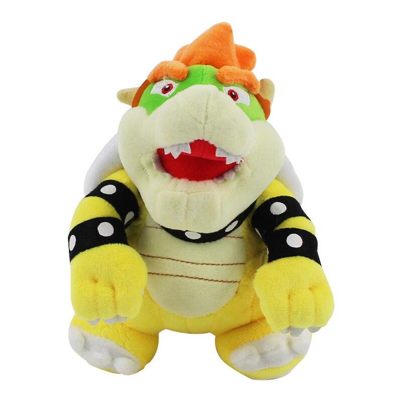 1Pcs 18CM Super Mario Bros Plush Toys Bowser Koopa Soft Stuffed Dolls Gifts For Children Girls Christmas Gift