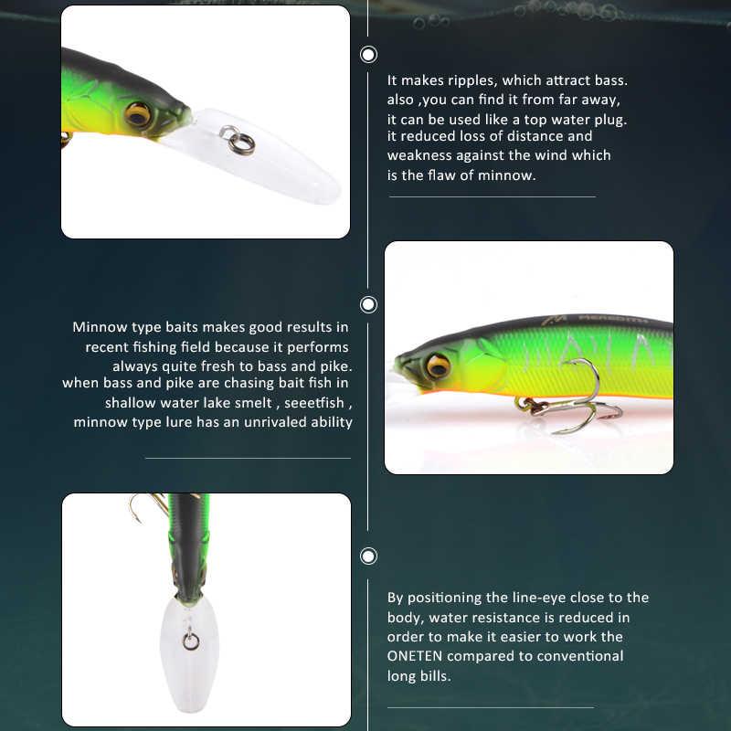 ميريديث أسماك المتذبذب الصيد السحر 110 مللي متر 15.8g الاصطناعي الصلب بيت عمق 0-3m بطيئة العائمة Jerkbait باس بايك الطعم معالجة
