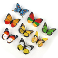 Flashing Lamps Novely Home Decoration Artificial Wall Nightlights Colorful Butterfly For Wedding baby Room LED Night Light ABS