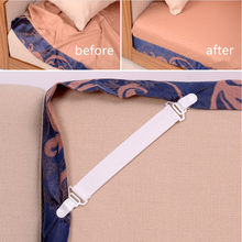 4PCS Bed Sheet Fasteners Elastic Grippers Clip Holder Bedding Buckle Holder Clamp House Bedroom Supplies White(China)