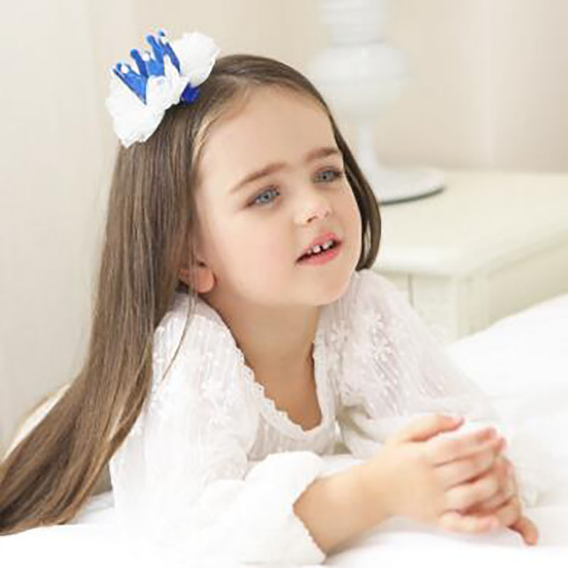 Girls Boys Party Shiny Hat Lace Crown Kids Crown Party Hats Decor Glitter Headband Headdress
