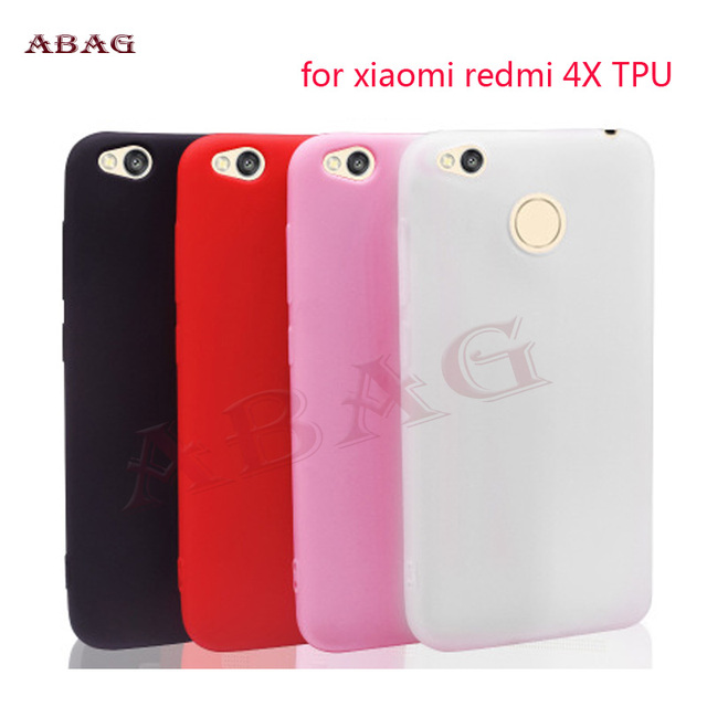 huge discount d3cf6 56dcc US $1.2 45% OFF|Candy Color TPU Rubber Silicone Case for xiaomi redmi 4X  Case ABAG Matte Frosted Soft Cover Protection Case-in Phone Bumper from ...