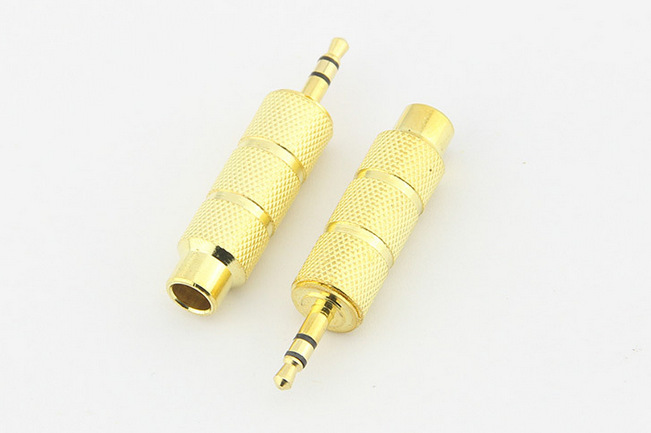 Gold Plated 3.5mm Male <font><b>to</b></font> 6.5mm Female <font><b>Adapter</b></font> <font><b>3.5</b></font> plug <font><b>to</b></font> <font><b>6.35</b></font> Jack Stereo Audio <font><b>Adapter</b></font> for Microphone Headphone AUX Cable image