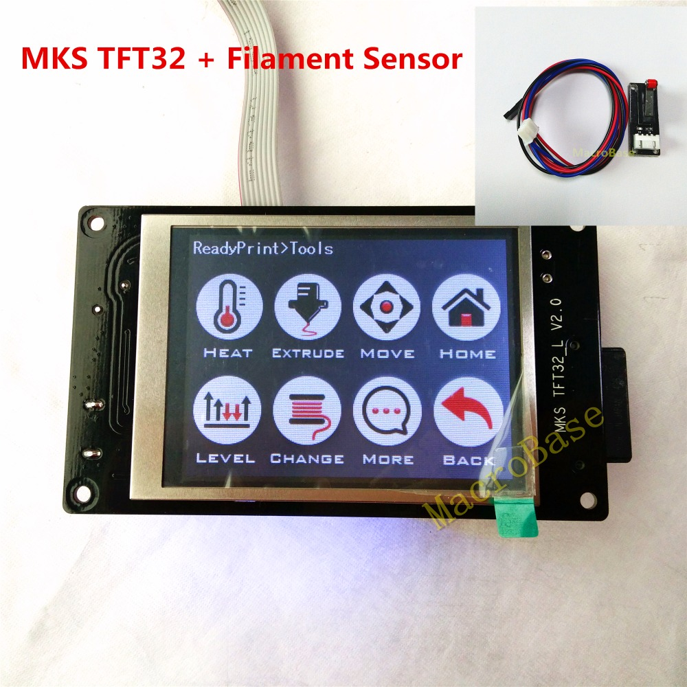 3d Printer Parts e Accessories mks tft32 v2.0 reprap inteligente With : Filament Sensor