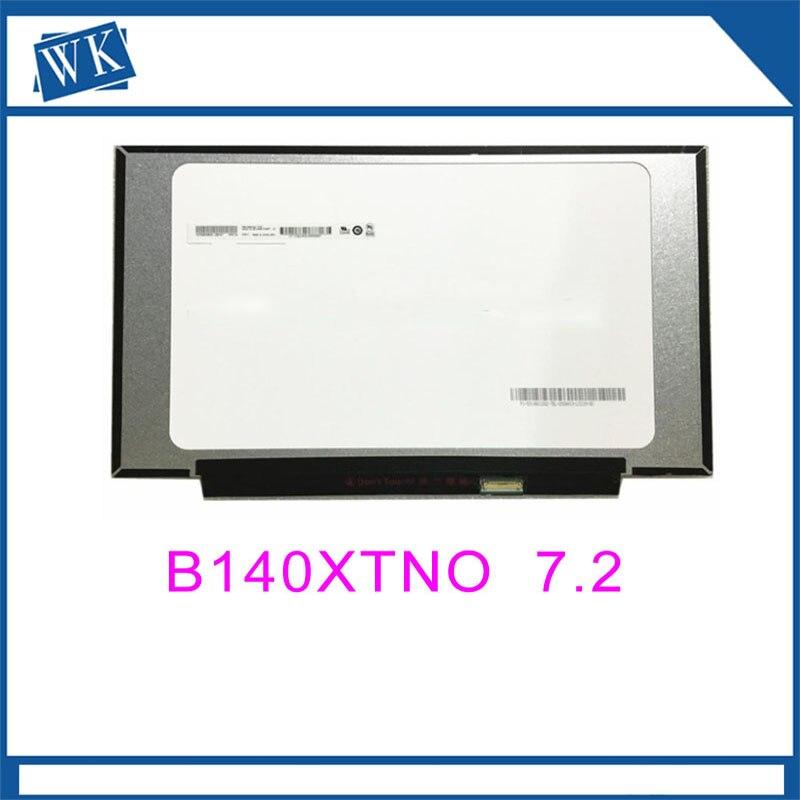 Free shipping Original lcd screen B140XTN07.2 14.inch Laptop Lcd Screen 1366*768 EDP 30 pinsFree shipping Original lcd screen B140XTN07.2 14.inch Laptop Lcd Screen 1366*768 EDP 30 pins